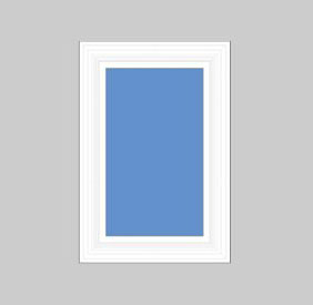 House Window, DIY, White, 28 Inch Rectangle